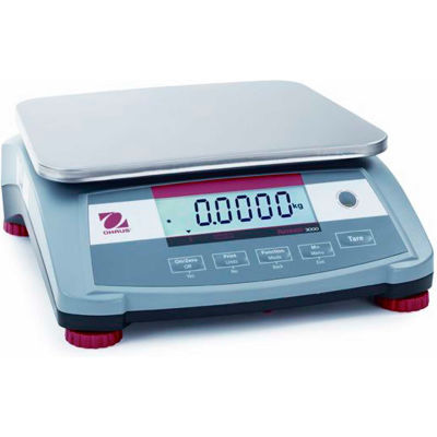 """Ohaus® Ranger 3000 Compact Digital Counting Scale 3lb Capacity 11-13/16"""" x 8-7/8"""" Platform"""