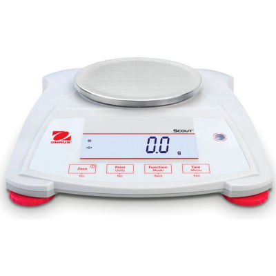 Ohaus® Scout® SPX421 Electronic Portable Balance with LCD Display, 420g x 0.1g