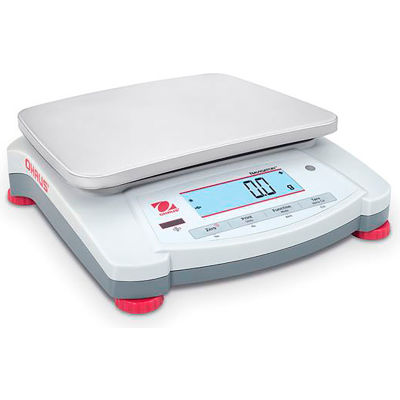 "Ohaus® NVT4201 Navigator® Portable Balance, 4,200g x 0.1g, 6-15/16"" x 9-1/8"" Platform"