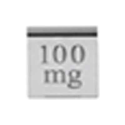 Ohaus 100mg Cylindrical Weight Stainless Steel OIML Class F1