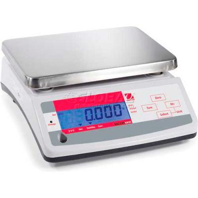 "Ohaus V11P15 AM Compact Bench/Food Digital Scale 33lb x 0.01lb 9-7/8"" x 7-1/8"" Platform"