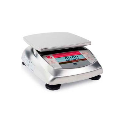 "Ohaus V31XW3 AM Compact Bench/Food Washdown Digital Scale 6.615lb x 0.005lb 5-13/16"" x 6-3/16"""