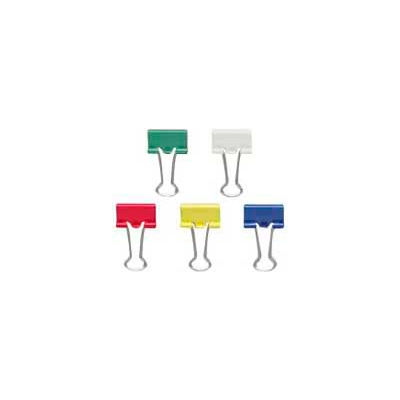 """Officemate® Binder Clips, Small, 3/4"""" Width, 3/8"""" Capacity, Assorted Colors, 36/Pack"""