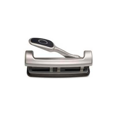 Officemate® EZ Level 2 - 3 Hole Punch, 15 Sheet Capacity, Silver