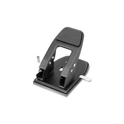 Officemate® Heavy-Duty Two-Hole Punch, 50 Sheet Capacity, Black