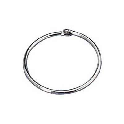 "Officemate® Loose-Leaf Book Rings, 3"" Diameter, Silver, 10/Box"