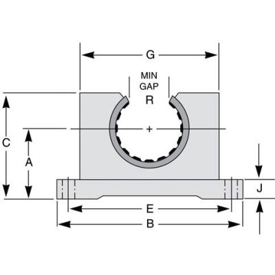 "IGUS OJUI-11-16 DryLin R Open Pillow Block Polymer Bearing with shell - 1""Dia. Shaft"