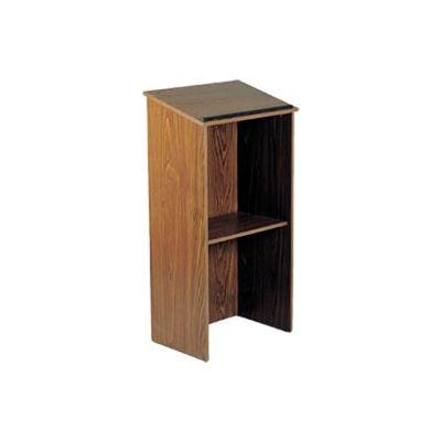 Full Floor Lectern / Podium - Medium Oak