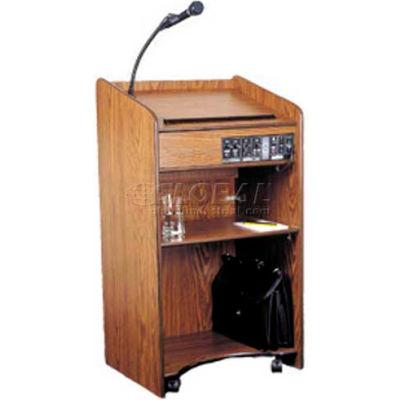 Floor Sound Podium / Lectern - Medium Oak