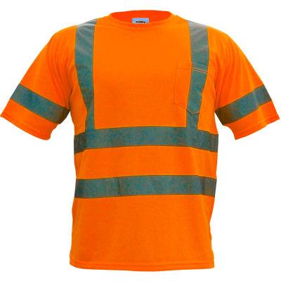Utility Pro™ Hi-Vis S/S Pocket T-Shirt, ANSI Class 3, M, Orange
