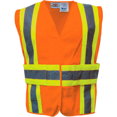 Utility Pro™ Hi-Vis Tearaway Vest, ANSI Class 2, L/XL, Orange