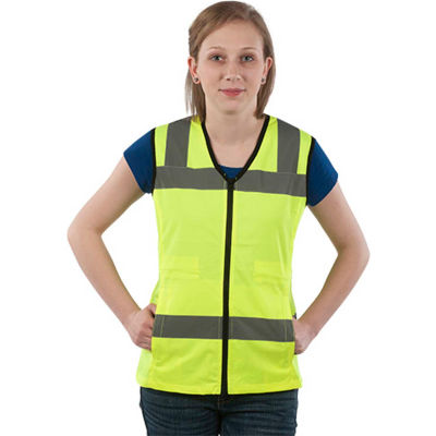 Utility Pro™ Hi-Vis Nylon Ladies Vest, ANSI Class 2, S, Yellow