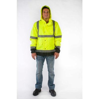 Utility Pro™ High-Visibility Rain Jacket, ANSI Class 3, L, Yellow/Black