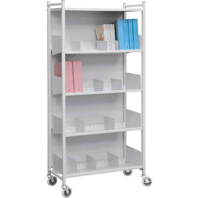 Omnimed® Versa Multi-Purpose Open Style Rack, 4 Shelves, Light Gray