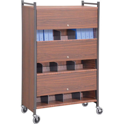 Omnimed® Versa Cabinet Style Rack with Locking Panels, 3 Shelves, Woodgrain