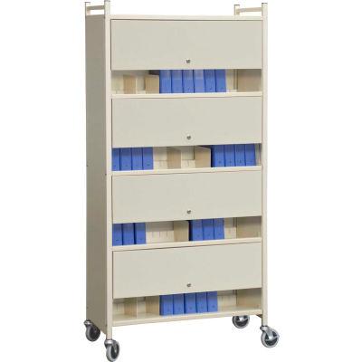 Omnimed® Versa Cabinet Style Rack with Locking Panels, 4 Shelves, Beige