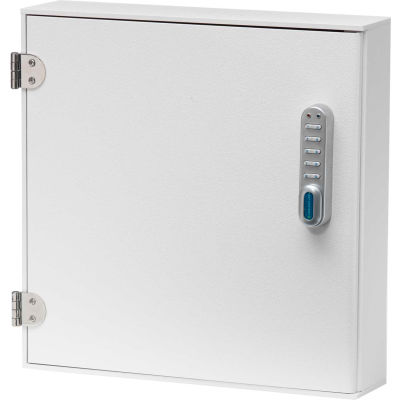 "Omnimed® Large Patient E-Lock Security Wall Cabinet, 2 Adjustable Shelves 16""W x 4""D x 16-1/4""H"