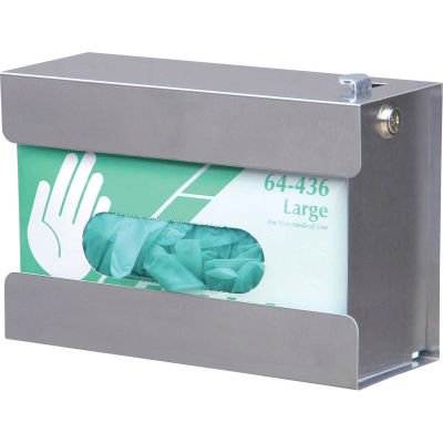 Omnimed® Single Security Glove Box Holder, Stainless Steel