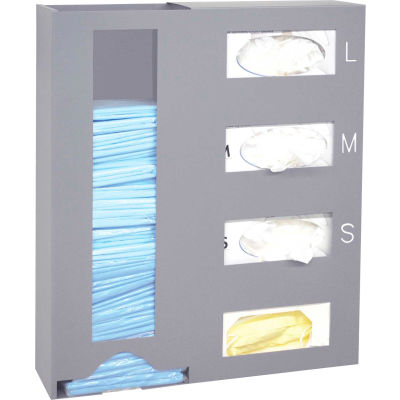 """Omnimed® Painted Steel Medical Isolation Station, 18""""W x 4-1/2""""D x 20-3/4""""H"""