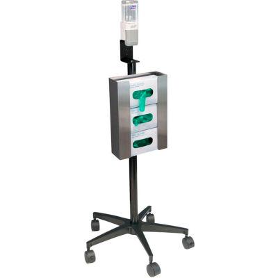 Omnimed® Mobile Glove & Hand Sanitizer Stand