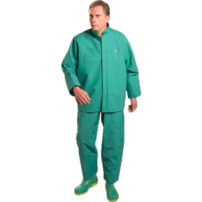 Onguard Chemtex Green Jacket W/Hood Snaps, PVC on Polyester, M
