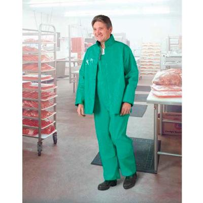 Onguard Sanitex Green Jacket W/Hood Snaps, PVC on Polyester, M