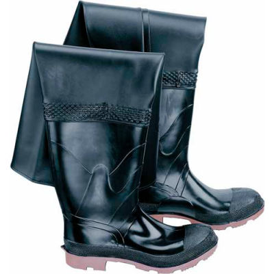 """Onguard Men's, 35"""" Hip Wader Black Steel Toe W/Cleated Outsole, PVC, Size 11"""