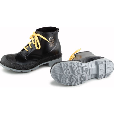 """Onguard Men's Boot, 6"""" Polyblend Black Steel Toe W/Cleated Outsole, PVC, Size 8"""