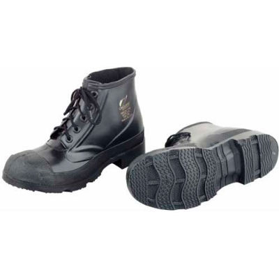 "Onguard Men's Boot, 6"" Monarch Black Steel Toe W/Cleated Outsole, PVC, Size 7"