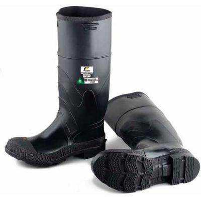 "Onguard Men's Boot, 16"" Economy Black Steel Toe/Steel Mid-sole, PVC, Size 13"