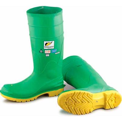 "Onguard Men's Boot, 16"" Hazmax Ez-Fit Green/Yellow, Steel Toe/Mid-sole, PVC, Size 10"
