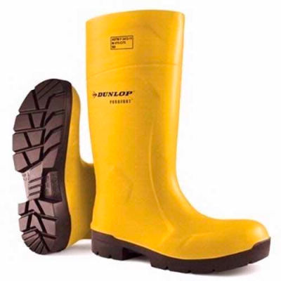Dunlop®Food Pro Purofort® Yellow Steel Toe Boot, Polyurethane, Size 5