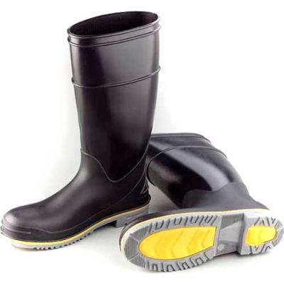 """Dunlop Men's Boot, 16"""" Flex 3 Black Plain Toe, PVC, Size 5"""
