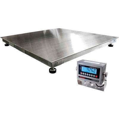"Optima 916 Series Stainless Steel NTEP 48"" x 48"" Heavy Duty Pallet Digital Scale 5,000lb x 1lb"
