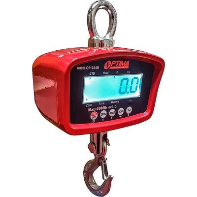 Optima LCD Digital Crane Scale With Remote 1,000 lb x 0.2 lb