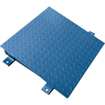 Optima 750 Series 4' x 4 Ramp for 4' x 4' Floor Digital Scale - Blue