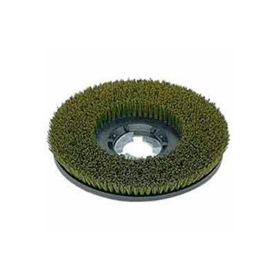 "Bissell Commercial 17"" Nylon Grit Brush, Green/Gray"