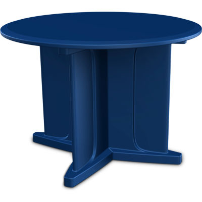 "Cortech USA Endurance Table 42"" Round Table Top with X Base - Slate Blue"