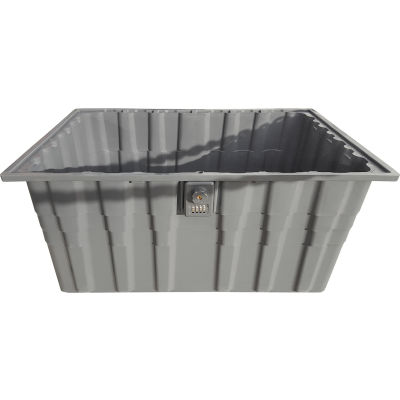 "Cortech USA 8568M Master Box Inmate Property Storage - 3 Cu. Ft. 28-1/4""L x 18""W x 12-1/2""H - Gray"