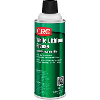 CRC White Lithium Grease - 16 oz Aerosol Can - NLGI Grade 2 - 03080 - Pkg Qty 12