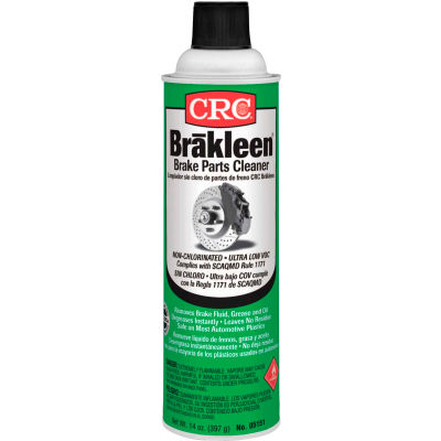 CRC Brakleen Non-Chlorinated Brake Parts Cleaners-14 oz Aerosol Can - Very Low VOC - 05151 - Pkg Qty 12