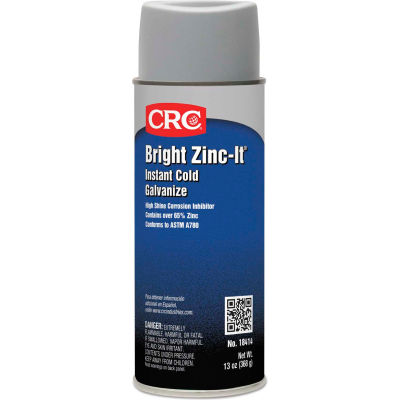 CRC Bright Zinc-It Instant Cold Galvanize - 16 oz Aerosol Can - 18414 - Pkg Qty 12