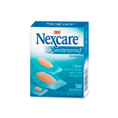Nexcare™ Waterproof Bandages, 432-50, 50 ct. Assorted, Clear
