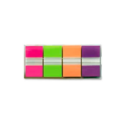 """Post-it® Flags, 1"""" Wide, Bright Colors, 80 Flags/Dispenser, 2 Dispensers/Pack"""