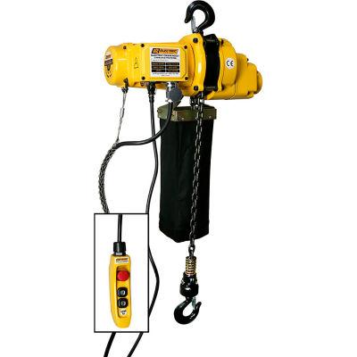 OZ Lifting 1/2 Ton Electric Chain Hoist, 20' Lift, 12.5 FPM, 110V