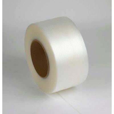 "Machine Grade Polypropylene Strapping 3/8"" x .024"" x 12,900' Clear, 8"" x 8"" Core"