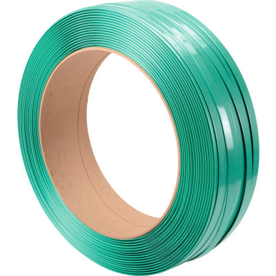 """Polyester Strapping 3/4"""" x .050"""" x 2,400' Green 16"""" x 6"""" Core"""
