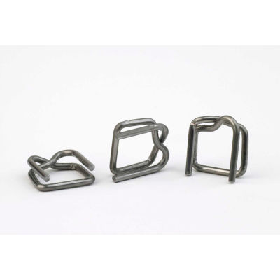 """Pac Strapping Standard Duty Polypropylene Strapping Wire Buckles, 1/2"""" Strap Width, Pack of 1000"""