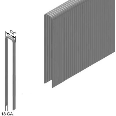 """18 Gauge Staple - 1"""" Length - 1/4"""" Crown - 304 Stainless Steel - Pkg of 4000 - Made In USA"""
