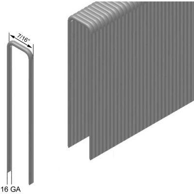 "16 Gauge Staple - 3/4"" Length - 7/16"" Crown - Galvanized Steel - Pkg of 10000"